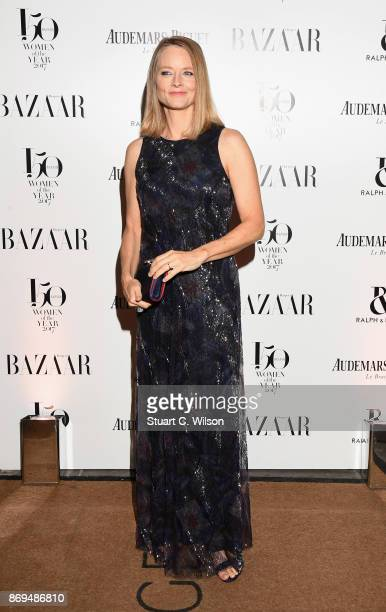 Actress and director Jodie Foster arrives at the Harper's Bazaar Woman Of The Year Awards held at Claridges Hotel on November 2 2017 in London England