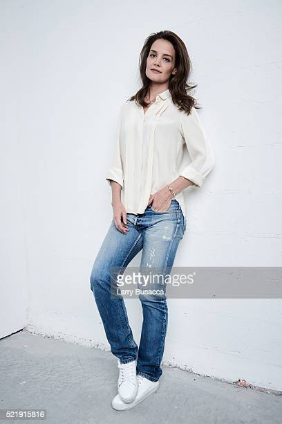 Actress and director Katie Holmes from 'All We Had' poses at the Tribeca Film Festival Getty Images Studio on April 16 2016 in New York City