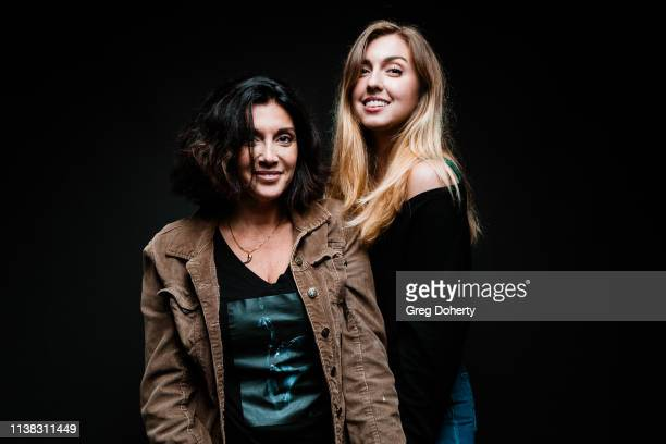 Actress and Director Madeline Vail wearing a Cannacity Shirt Design with Photography by Michael Bezjian and daughter Patience Wilcox attends the...