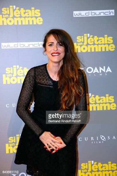 Actress and Director of the movie Audrey Dana attends the Si j'etais un Homme Paris Premiere at Cinema Gaumont Opera on February 21 2017 in Paris...