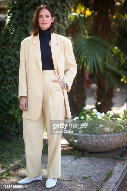 Actress and director Ruth Wilson poses during the 78th Venice International Film Festival on September 06, 2021 in Venice, Italy.