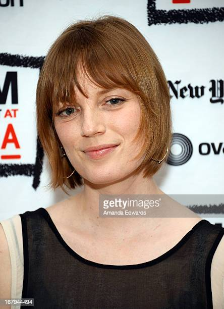 Actress and director Sarah Polley attends a Film Independent At LACMA special screening of Stories We Tell at Bing Theatre At LACMA on May 2 2013 in...