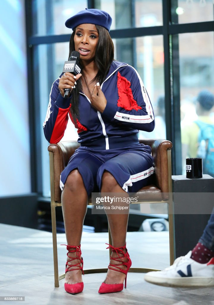 Actress and director Tasha Smith discusses her directorial debut with TV One's 'When Love Kills' at Build Studio on August 17, 2017 in New York City.
