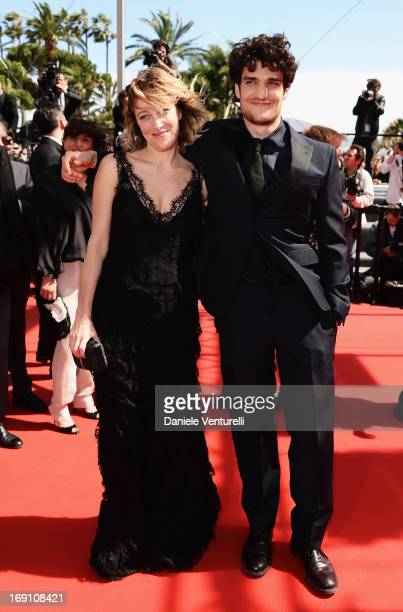 Actress and director Valeria Bruni Tedeschi and actor Louis Garrel attend the Premiere of 'Un Chateau En Italie' during the 66th Annual Cannes Film...