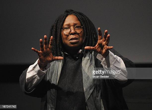 """Actress and director Whoopi Goldberg speaks during """"I Got Somethin' To Tell You"""" screening and Q+A with Director Whoopi Goldberg exclusively for..."""
