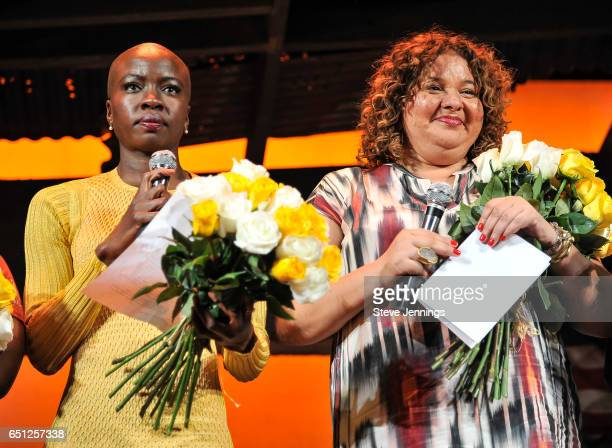 Actress and Eclipsed Playwright Danai Gurira and Director Liesl Tommy at the celebration of Women's History Month on it's Opening Night of Eclipsed...