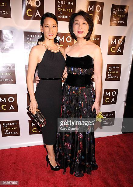 Actress and event honoree Lucy Liu and journalist Connie Chung attend the Museum of Chinese in America 30th Anniversary Gala at Capitale on December...