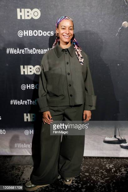 Actress and Executive Producer Amatus SamiKarim poses for a photo on the red carpet for We Are The Dream on February 11 2020 in Oakland California
