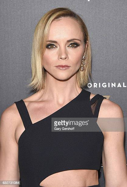 Actress and executive producer Christina Ricci attends Amazon's new series 'Z The Beginning of Everything' premiere at SVA Theatre on January 25 2017...