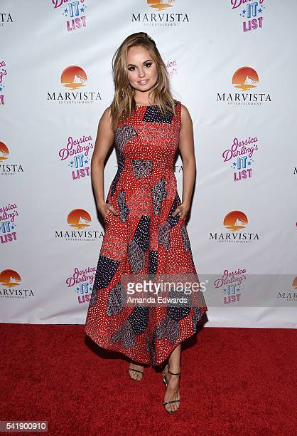 Actress and executive producer Debby Ryan arrives at the premiere of Marvista Entertainment's 'Jessica Darling's It List' at the Landmark Theater on...