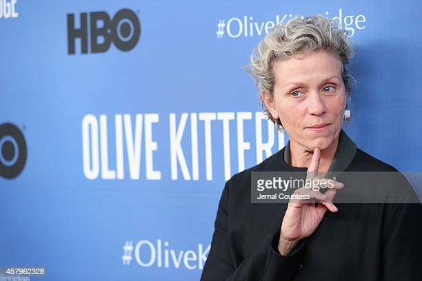 Actress and Executive Producer Frances McDormand attends the Olive Kitteridge New York Premiere at SVA Theater on October 27 2014 in New York City