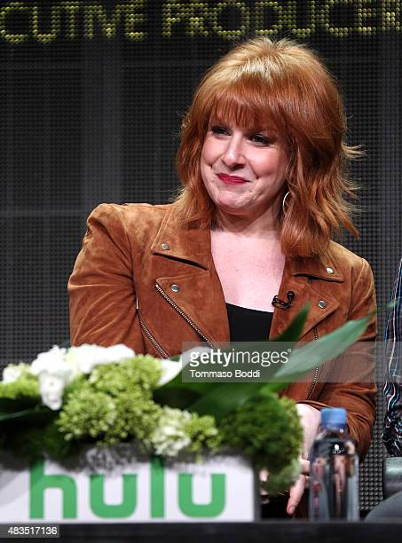 Actress and Executive Producer Julie Klausner speaks onstage during the Difficult People panel at the Hulu 2015 Summer TCA Presentation at The...