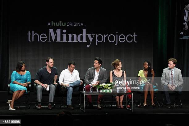 Actress and Executive Producer Mindy Kaling actors Ike Barinholtz Chris Messina Ed Weeks Beth Grant Xosha Roquemore and Executive Producer Matt...