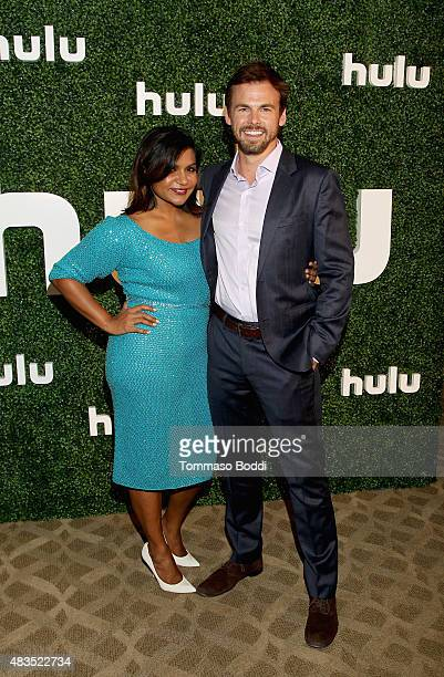 Actress and Executive Producer Mindy Kaling and actor Tommy Dewey attend the Hulu 2015 Summer TCA Presentation at The Beverly Hilton Hotel on August...