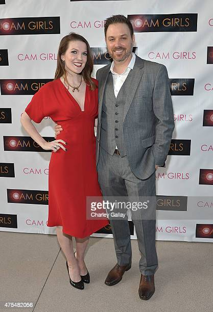 Actress and exeutive producer Kate Bond and director and executive producer David Slack attend the screening party for the new original web series...