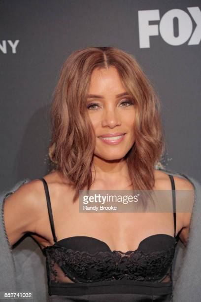 Actress and fashion designer Michael Michele poses on the red carpet during the Empire Star Celebrate FOX's New Wednesday Night at One World...