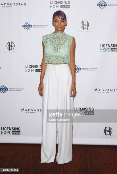Actress and fashion designer Nicole Richie arrives at the Licensing Expo 2014 at the Mandalay Bay Convention Center on June 17 2014 in Las Vegas...