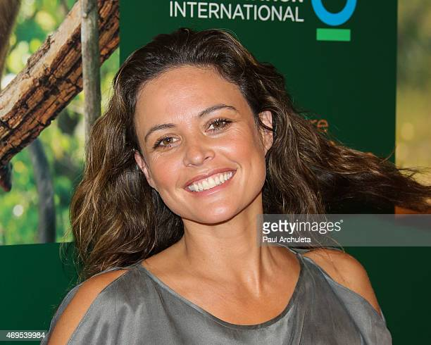 Actress and fashion model Josie Maran attends the premiere of Monkey Kingdom at the Pacific Theaters at the Grove on April 12 2015 in Los Angeles...