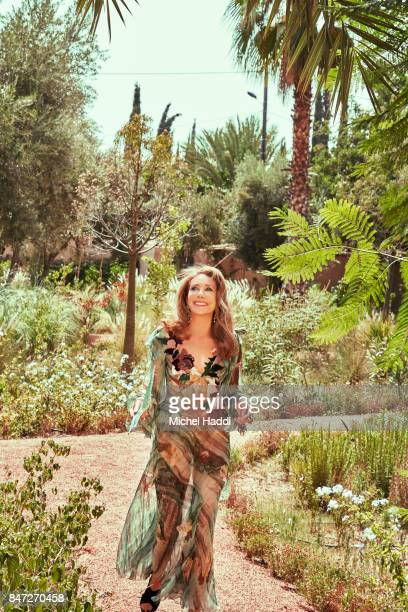 Actress and fashion model Marisa Berenson is photographed at her home for Luxx magazine on June 28, 2017 in Marrakech, Morocco.