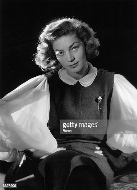 Actress and film star Lauren Bacall winner of Tony awards for 'Applause' and 'Woman of the Year'