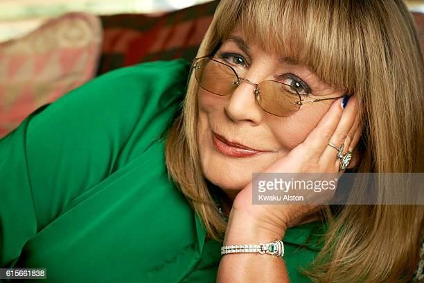 Actress and filmmaker Penny Marshall is photographed for People Magazine on August 8 2011 in Los Angeles California