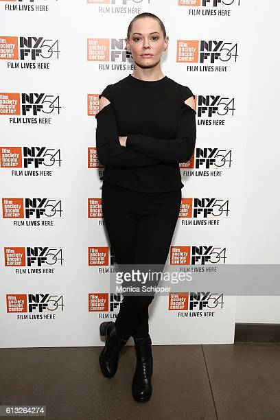 Actress and filmmaker Rose McGowan attends 54th New York Film Festival NYFF Live I Am Indie at Film Center Amphitheater in Lincoln Center on October...