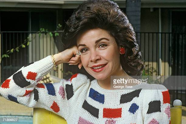 Actress and former Disney Mousketeer Annette Funicello poses during a 1988 Thousand Oaks California photo portrait session Star of such films as 'The...