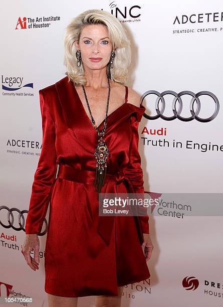 Actress and former fashion model Joan Severance arrives on the red carpet on day four of Fashion Houston 2010 Presented By Audi at the Wortham...
