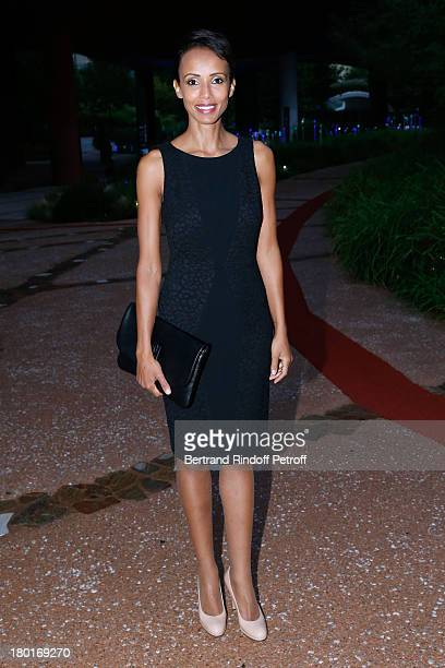 Actress and former Miss France Sonia Rolland attends 'Friends of Quai Branly Museum Society' dinner party at Musee du Quai Branly on September 9 2013...
