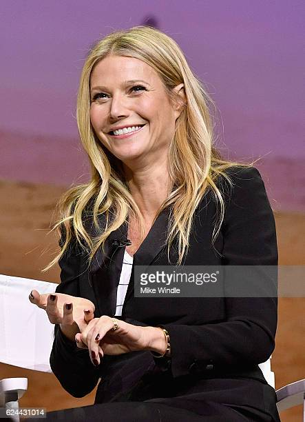 Actress and Founder of goop Gwyneth Paltrow speaks onstage at Cultivating the Art of Taste Style at the Los Angeles Theatre during Airbnb Open LA Day...