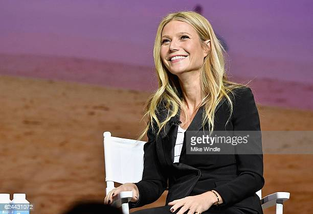 Actress and Founder of goop, Gwyneth Paltrow speaks onstage at Cultivating the Art of Taste & Style at the Los Angeles Theatre during Airbnb Open LA...