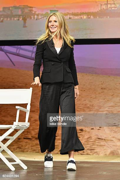 Actress and Founder of goop, Gwyneth Paltrow walks onstage at Cultivating the Art of Taste & Style at the Los Angeles Theatre during Airbnb Open LA -...