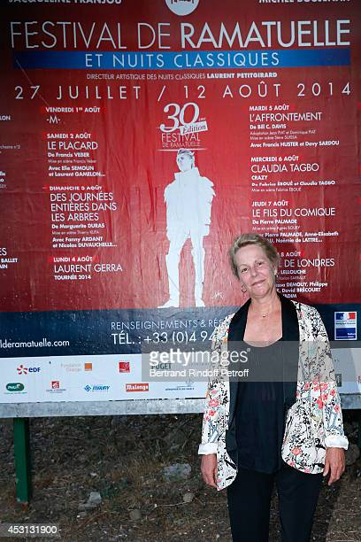 Actress and Gerard Philipe daughter's AnneMarie Philipe attends the 30th Ramatuelle Festival Day 3 on August 3 2014 in Ramatuelle France