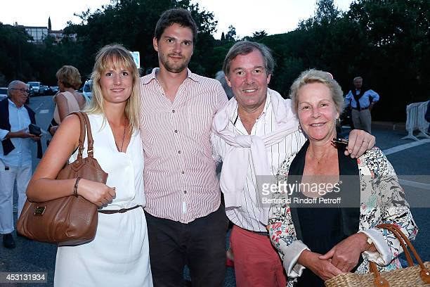 Actress and Gerard Philipe daughter's AnneMarie Philipe her husband Jerome Garcin their son and his companion attend the 30th Ramatuelle Festival Day...