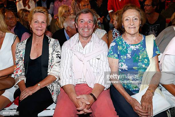 Actress and Gerard Philipe daughter's AnneMarie Philipe her husband Jerome Garcin and Princess Napoleon attend the 30th Ramatuelle Festival Day 3 on...