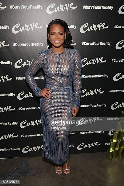 Actress and Grammy nominated Singer/Songwriter Christina Milian attends #CurveYourReality Campaign Launch for Curve Fragrances at Lightbox on...