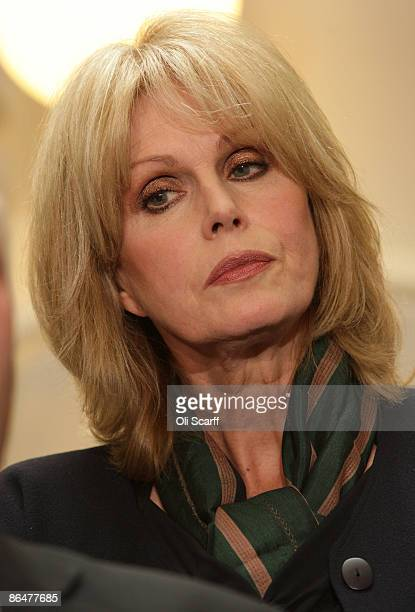 Actress and Gurkha campaigner Joanna Lumley holds an impromptu press conference with Immigration Minister Phil Woolas on May 7 2009 in London...