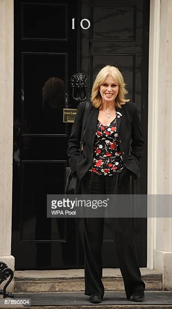 Actress and Gurkha campaigner Joanna Lumley poses outside No 10 Downing Street as she prepares to hold talks with Prime Minister Gordon Brown May 21...