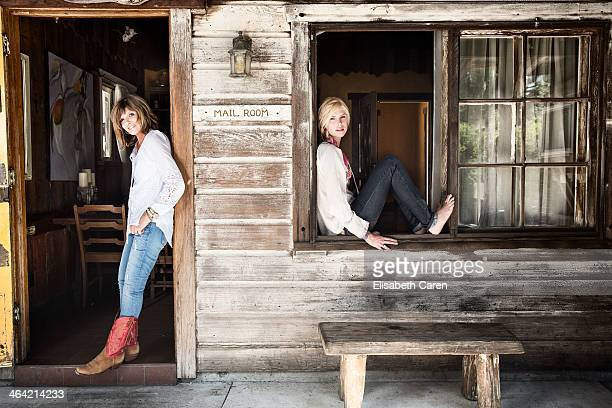 Actress and her daughter Katharine Ross Cleo Elliot are photographed for Malibu Times Magazine on July 29 2013 in Malibu California PUBLISHED IMAGE