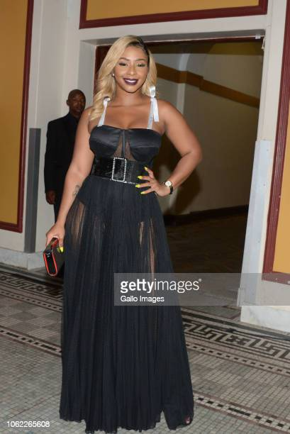 TV actress and Hip hop star Boity Thulo during the 10th annual Feather Awards at the Johannesburg City Hall on November 15 2018 in Johannesburg South...