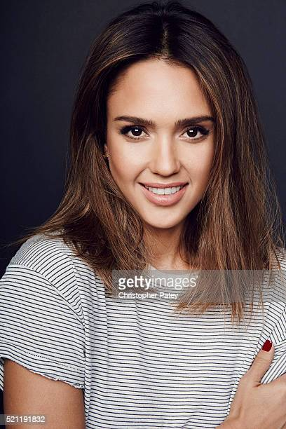 Actress and Honest Company Founder Jessica Alba is photographed for Los Angeles Business Journal on November 24 2015 in Santa Monica California