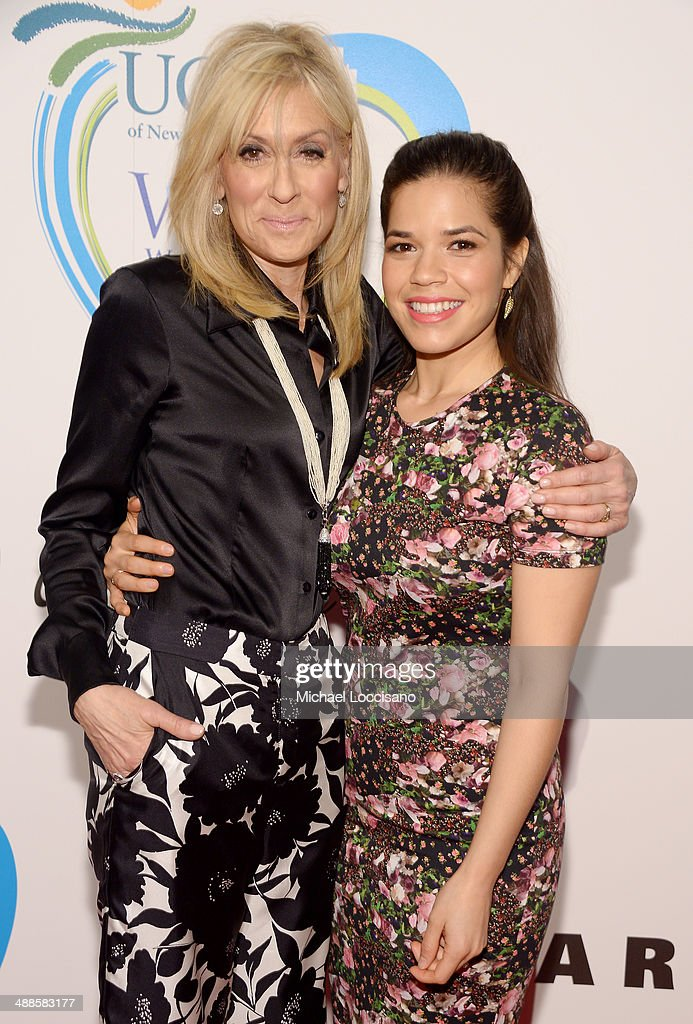 Actress and honoree Judith Light (L) and actress and presenter America Ferrera attend the 13th annual Women Who Care event benefiting United Cerebral Palsy of New York City at Cipriani 42nd Street on May 7, 2014 in New York City.