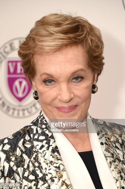 Actress and honoree Julie Andrews attends the red carpet arrivals for the 'Raise Your Voice' concert at Alice Tully Hall Lincoln Center on March 5...
