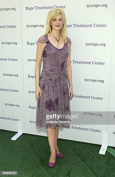 Actress and honoree Kathryn Morris arrives at the Rape Foundation's Annual Brunch at the home of Ron Burkle on October 2 2005 in Beverly Hills...