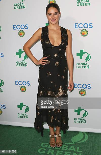 Actress and honoree Shailene Woodley attends the Global Green 20th Anniversary Awards on September 29 2016 in Los Angeles California