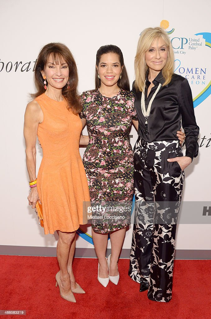 Actress and host Susan Lucci, actress and presenter America Ferrera, and actress and honoree Judith Light attend the 13th annual Women Who Care event benefiting United Cerebral Palsy of New York City at Cipriani 42nd Street on May 7, 2014 in New York City.