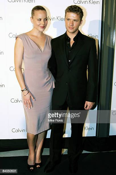 Actress and hostess Abbie Cornish and Ryan Philippe arrive for the Calvin Klein Spring 2009 Collection launch at Pier 2 Walsh Bay on December 16,...