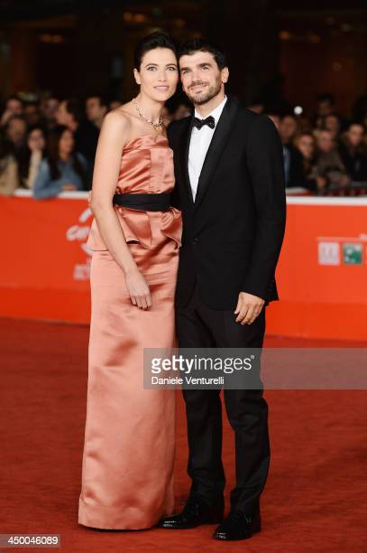 Actress and hostess Anna Foglietta and Paolo Sopranzetti attend the Award Ceremony Red Carpet during The 8th Rome Film Festival on November 16, 2013...