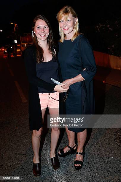 Actress and humorist Chantal Ladesou and her daughter Clemence Ansault attend the 30th Ramatuelle Festival Day 7 on August 7 2014 in Ramatuelle France