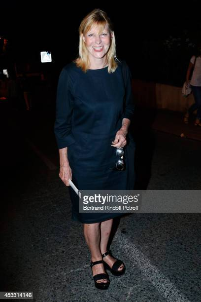 Actress and humorist Chantal Ladesou attends the 30th Ramatuelle Festival Day 7 on August 7 2014 in Ramatuelle France